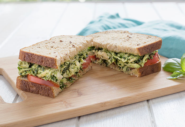 Oroweat® Premium Breads | Walnut Kale Pesto Chicken Salad Sandwich