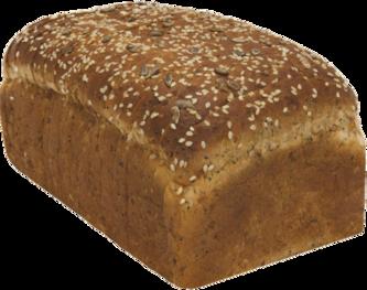 3-Seed Oatnut Naked Bread Loaf Image