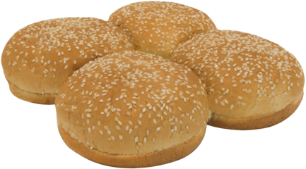 Premium Golden Seeded Large Sandwich Buns Top of Buns Image