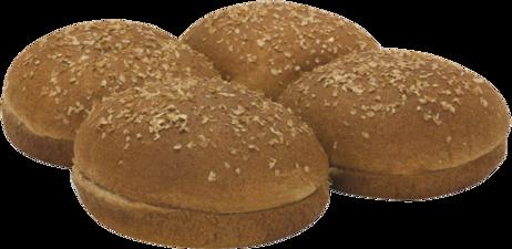 100% Whole Wheat Large Sandwich Buns Top of Buns