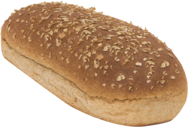 100% Whole Wheat Large Hot Dog Rolls Top of Roll Image