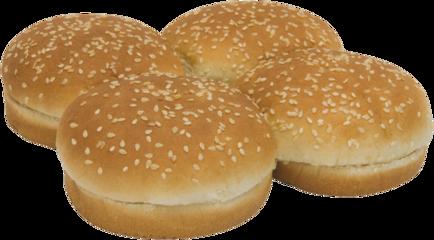 Sesame Seeded Sandwich Buns Top of Buns