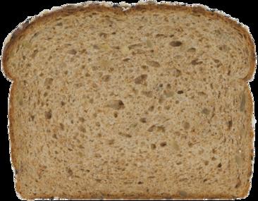 100% Whole Grain Bread Slice Image
