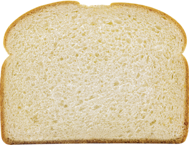White Bread Slice Image