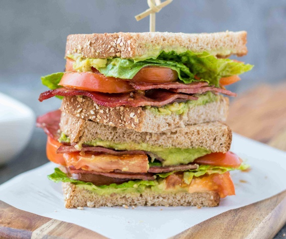 Stacked sandwich image