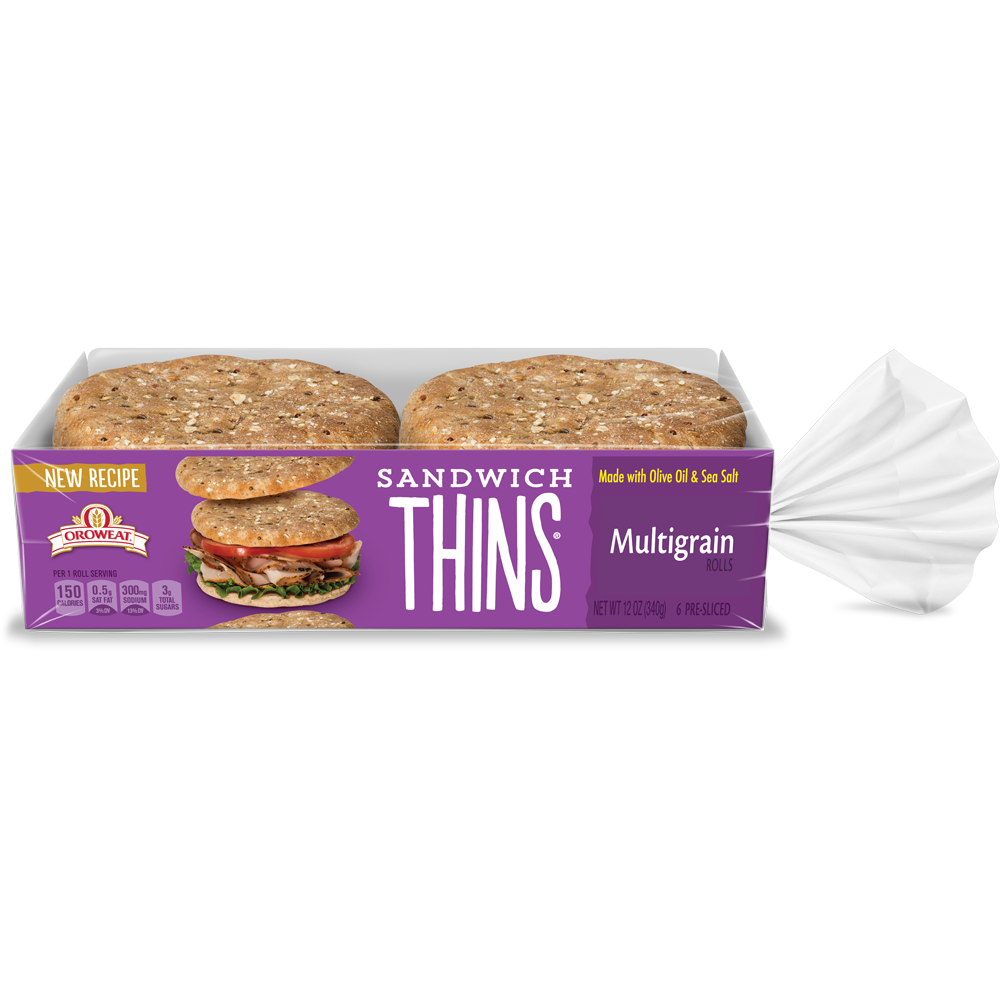 Oroweat Multigrain Sandwich Thins Package Image