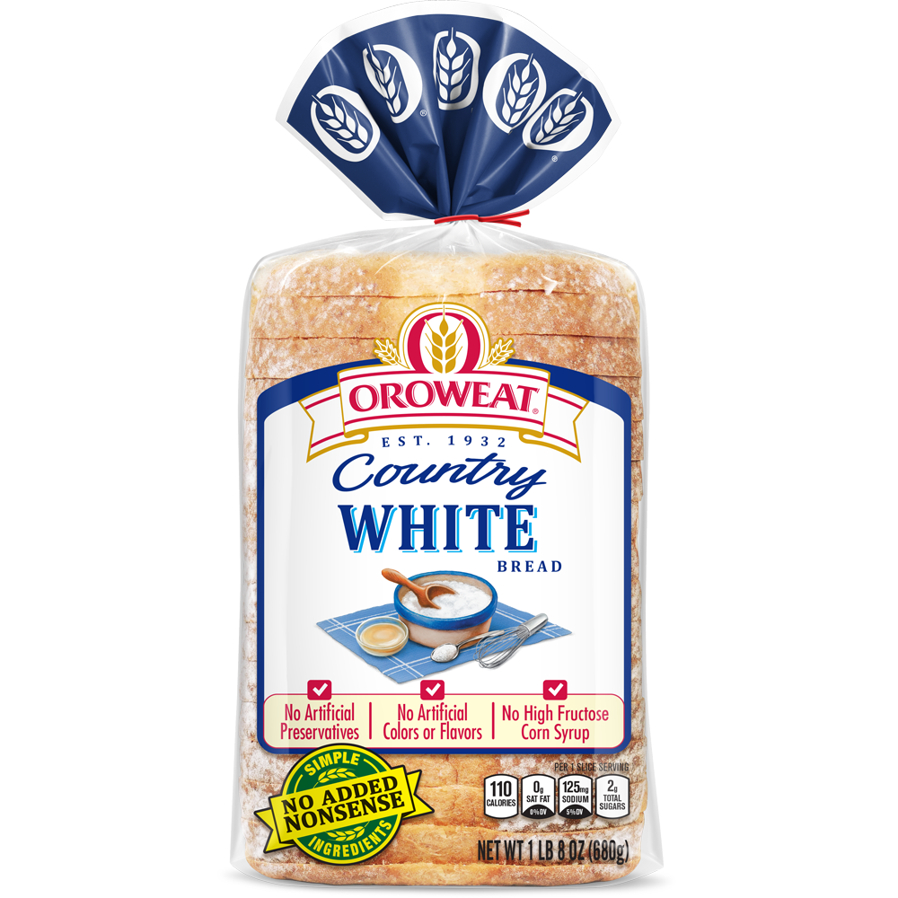 Oroweat White Bread Package Image