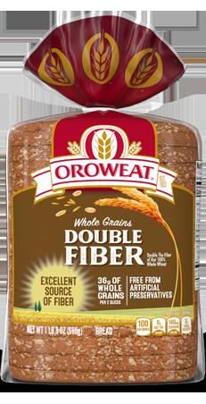 Oroweat Double Fiber Bread 24oz Packaging