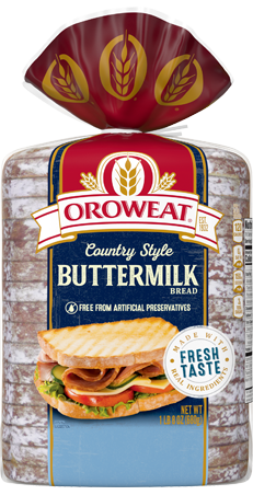 Oroweat Country Style Buttermilk Bread 24oz Packaging