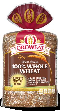 Oroweat 100% Whole Wheat Bread 24oz Packaging