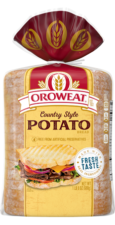 Oroweat Country Style Potato Bread 24oz Packaging
