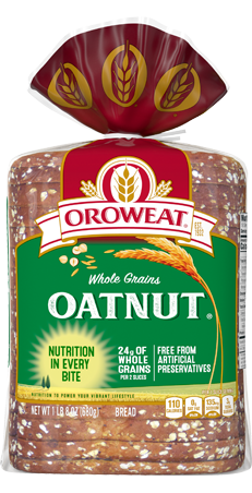 Oroweat Oatnut Bread 24oz Packaging