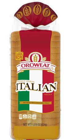 Oroweat Italian 22oz Bread Packaging