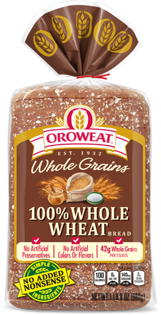 Oroweat 100% Whole Wheat Bread Package