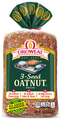 Oroweat 3-Seed Oatnut Bread Package Image
