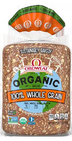 Oroweat 100% Whole Grain Bread Package