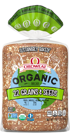 Oroweat Organic 22 Grains & Seeds Bread Package Image