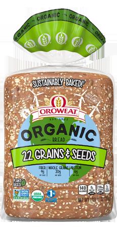 Oroweat Organic 22 Grains & Seeds Bread Package Image