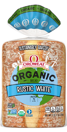 Oroweat Organic Rustic White Bread Package