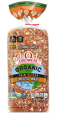 Oroweat Thin Sliced Sprouted Wheat 18oz Bread