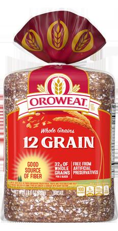 Oroweat 12 Grain Bread 24oz Packaging