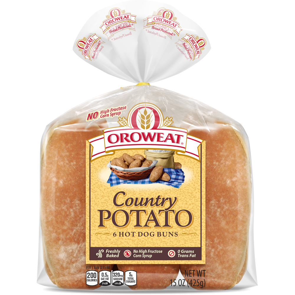 Oroweat Potato Large Hot Dog Rolls Package Image