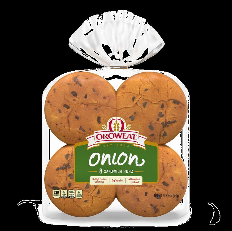Oroweat Onion Hamburger Sandwich Package