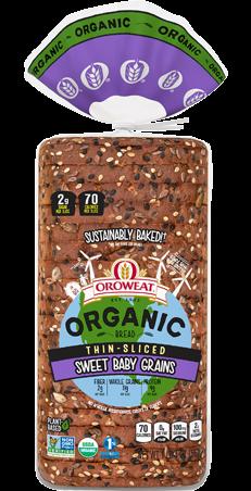 Oroweat Organic Thin-sliced Sweet Baby Grains Package
