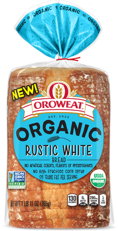 Oroweat Organic Rustic White Bread Package Image