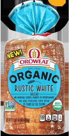 Oroweat Organic Rustic White Bread Package Image