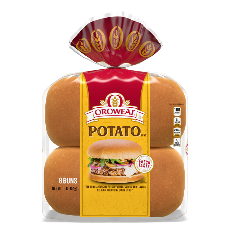 Oroweat Potato Sandwich Buns Package