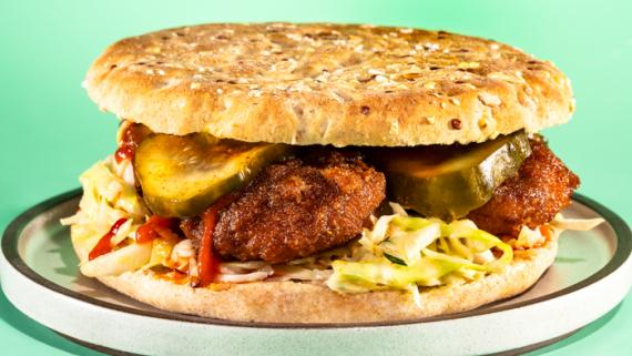 Nashville Hot Not-Fried Chicken Sandwich Recipe Image